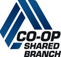 CO-OP Shared Branch Logo with link to shared branch locator website.